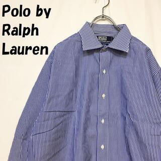 【人気】ポロ ラルフローレン ストライプ柄 長袖シャツ サイズ42-84