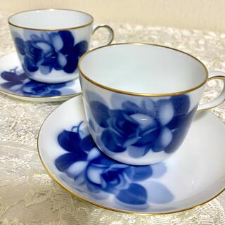 オオクラトウエン(大倉陶園)の大倉陶園  モーニングカップ&ソーサー 2客(食器)