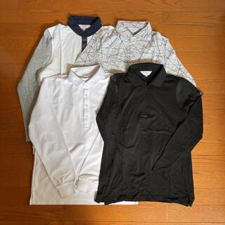 ランバン(LANVIN)のLANVIN ランバンスポール ゴルフ ポロシャツ 長袖 4枚セット(ウエア)