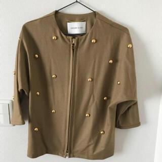 ユナイテッドアローズ(UNITED ARROWS)のノーカラージャケット ベージュ キャメル 淡色(ノーカラージャケット)