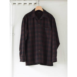 COMOLI - comoli ウールチェックオープンカラーシャツ 新品未使用 タグ付き