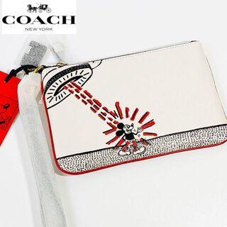 コーチ(COACH)の【新商品】コーチCOACH ミッキーディズニー×キースヘリング 小物入れ(クラッチバッグ)