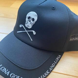 マークアンドロナ(MARK&LONA)のマークアンドロナ キャップ 新品未使用品 黒(ウエア)