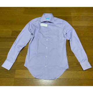 スーツカンパニー(THE SUIT COMPANY)の定価4990  ネクストブルーワイドカラーシャツ 新品未使用(シャツ)