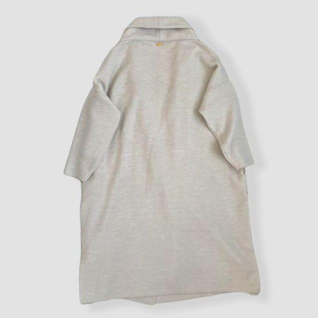 DEUXIEME CLASSE(ドゥーズィエムクラス)の2020年 ミューズ ドゥーズィエムクラス スムース ニット ガウン コート レディースのジャケット/アウター(ロングコート)の商品写真