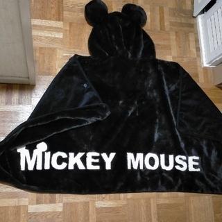 ディズニー(Disney)のミッキー フード付きポンチョ ブランケット(ポンチョ)