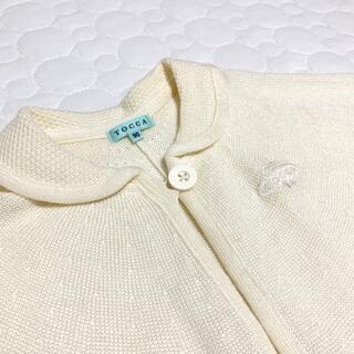 トッカ(TOCCA)の【美品】TOCCA♡オフホワイト ポンチョ 90cm(カーディガン)