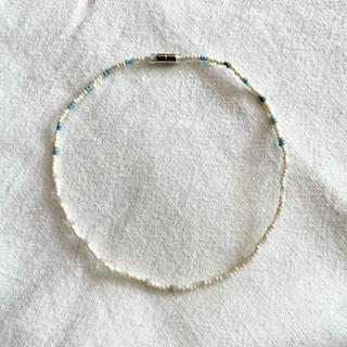 Glass beads choker No.60 一点物 約32cm