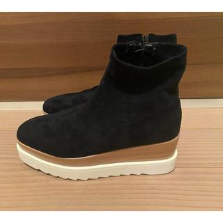 アメリヴィンテージ(Ameri VINTAGE)のAMAIL ブーツ マットブラック Lサイズ(ブーツ)