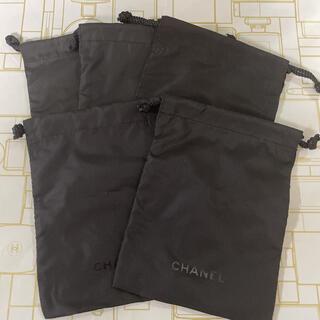 CHANEL - 5枚set❤︎CHANEL ミニ巾着 黒