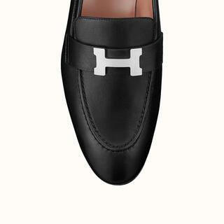 エルメス(Hermes)の【新品】エルメス ローファー モカシン パリ ブラック(黒)36(ローファー/革靴)