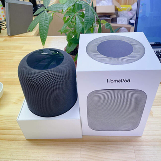 Apple - 「美品」Apple HomePod スペースグレー送料込み