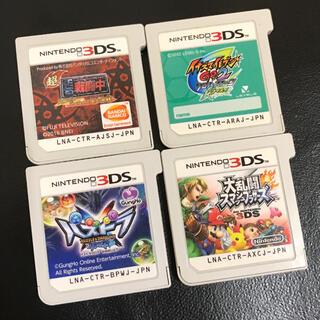 ニンテンドー3DS(ニンテンドー3DS)の3ds ソフト カセット まとめ売り イナズマイレブン 戦闘中 スマブラ(携帯用ゲームソフト)