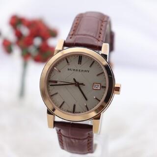 バーバリー(BURBERRY)の正規品【新品電池】BURBERRY BU9109/チェック柄 ピンクゴールド(腕時計)