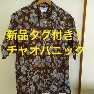 チャオパニックティピー(CIAOPANIC TYPY)の新品タグ付き!チャオパニック テイピー ボタニカル柄 オープンカラーシャツ(シャツ)