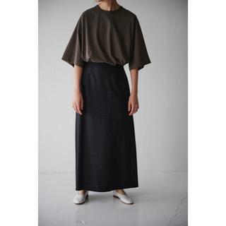 mame - 美品 WIRROW ウィロー / wool panama long skirt