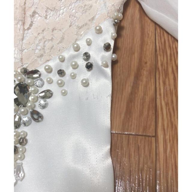 dazzy store(デイジーストア)のDIOH ミニワンピース 白&ピンク レディースのフォーマル/ドレス(ナイトドレス)の商品写真