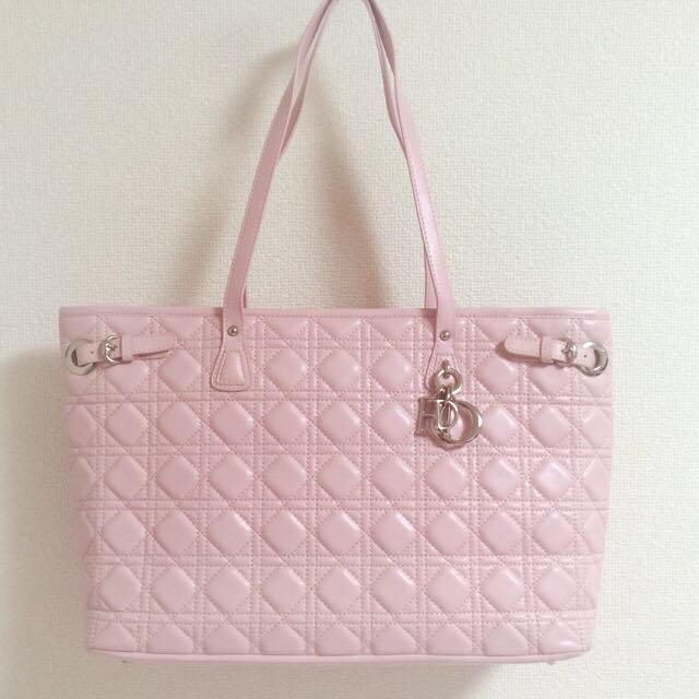 Dior(ディオール)のディオールトートバッグピンク美品♡ ハンドメイドのファッション小物(バッグ)の商品写真