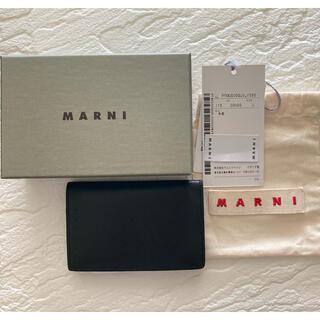 マルニ(Marni)のマルニMARNI名刺入れ 定期入れ ブラック黒(名刺入れ/定期入れ)