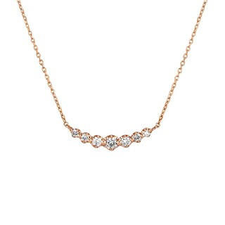 4℃ - 4℃ k18 PG ピンクゴールド ダイヤモンド ネックレス