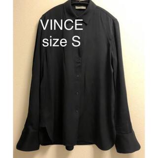 ビンス(Vince)の美品。VINCEビンス シルクブラウス(シャツ/ブラウス(長袖/七分))