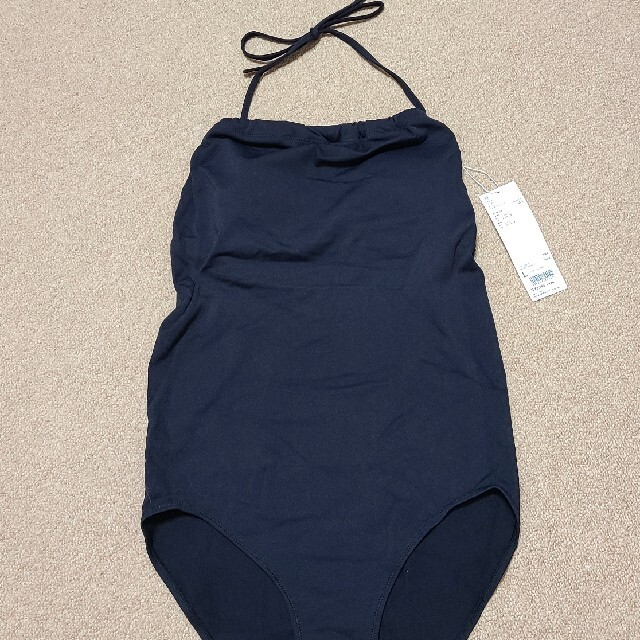 UNIQLO(ユニクロ)のユニクロ シームレススイム ギャザーワンピース 水着 ワンピース水着 L レディースの水着/浴衣(水着)の商品写真