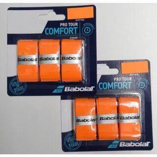 バボラ(Babolat)の①バボラ【国内正規品】プロツアーX3(653037)  オレンジ(110)×2個(その他)