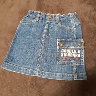 ダブルビー(DOUBLE.B)のダブルビー デニム スカート 100(スカート)