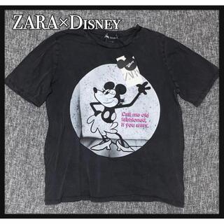 ZARA - ZARA Disneyコラボ ウォッシュ加工ミッキー タグ付き新品