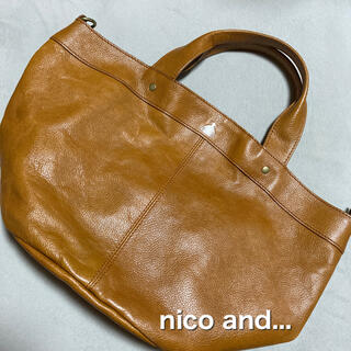 nico and...ニコアンド  レザートートバッグ バケツ型トートバッグ