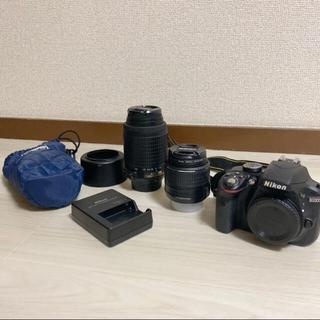 Nikon - Nikon D3300 ダブルズームキット 充電器、レンズフード、ケース付き