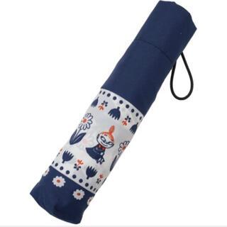 リトルミー(Little Me)の新品【折り畳み傘】ムーミン 3段折りたたみ傘 ラインフラワー(傘)