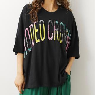 ロデオクラウンズワイドボウル(RODEO CROWNS WIDE BOWL)のマルチカラーパッチトップス(Tシャツ(半袖/袖なし))