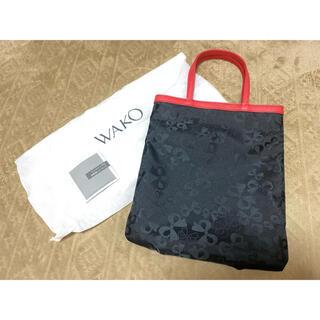 WAKO  トートバッグ 赤黒 リボン(トートバッグ)