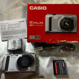 カシオ(CASIO)のCASIO EXILIM EX-ZR400  シルバー  デジタルカメラ(コンパクトデジタルカメラ)