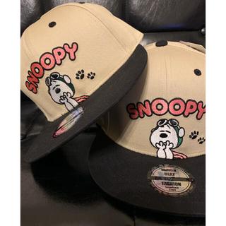 ユニバーサルスタジオジャパン(USJ)の新品未使用 2個セット スヌーピー  キャップ 帽子 ニューエラ風 USJ (帽子)