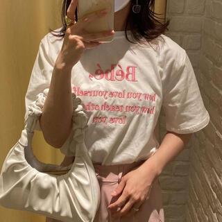 ディーホリック(dholic)のBebe ロゴ刺繍Tシャツ(Tシャツ/カットソー(半袖/袖なし))