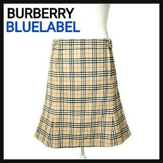 バーバリー(BURBERRY)の【美品】BURBERRY BLUELABEL バーバリー スカート ノバチェック(ひざ丈スカート)