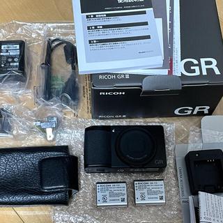 RICOH - RICOH リコー GRⅢ GR3 青リング、予備バッテリ、純正ケース、充電器付