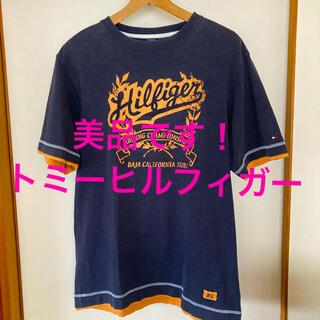 トミーヒルフィガー(TOMMY HILFIGER)の美品です!国内正規品!トミーヒルフィガー ロゴプリント コットンTシャツ(Tシャツ/カットソー(半袖/袖なし))