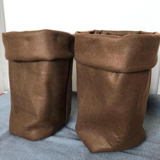 フェルトプランター 大ロング 茶②枚セット(プランター)