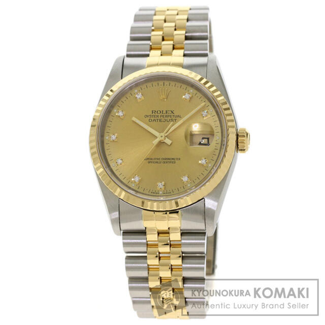 ROLEX(ロレックス)のロレックス 16233G デイトジャスト 10P ダイヤモンド  メンズの時計(腕時計(アナログ))の商品写真