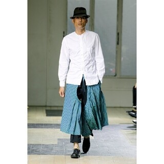 Yohji Yamamoto - ヨウジヤマモトオム 12ss キュビズム環縫いシャツ★