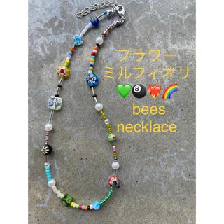 トーガ(TOGA)のNo.497 フラワーミルフィオリ カラフルビーズネックレス パールネックレス(ネックレス)