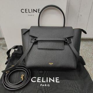 celine - 美品CELINEショルダーバッグ セリーヌ ベルトバッグ ナノ ブラック