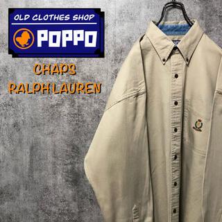 Ralph Lauren - チャップスラルフローレン☆ポケット刺繍ロゴボタンダウンシャツ 90s
