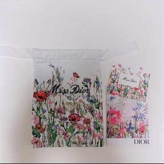 Dior - ディオール 刺繍ポーチ ノベルティ