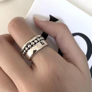 ムルーア(MURUA)のインポート ボールチェーン デザイン シルバー 925 リング(リング(指輪))