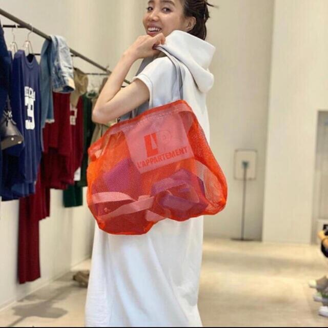 L'Appartement DEUXIEME CLASSE(アパルトモンドゥーズィエムクラス)のL'Appartement メッシュトートノベルティバッグ  レディースのバッグ(エコバッグ)の商品写真