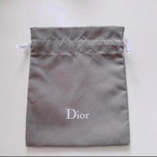 ディオール(Dior)のディオール グレー巾着 ノベルティ(その他)